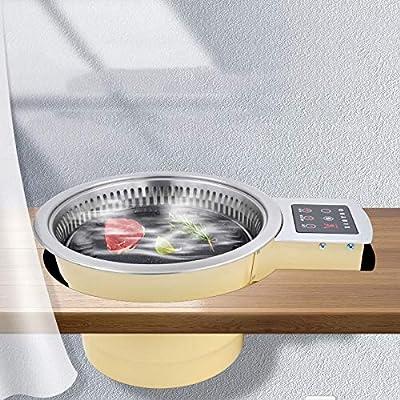 Elektrischer Grill Automatisches Rauchen Grill Grill Elektrischer Ofen Kommerziell/Koreanisch Antihaft-Infrarot-Umweltschutz Nichtraucher BBQ