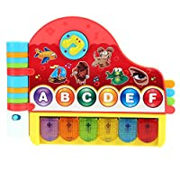 Smibie Baby Kids Musical Instrument Toy Rhymes Book with Light Educational Learning Toy for Toddler(UK STOCK)