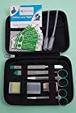 Astuccio professionale e semirigido, 18pezzi di cui 12strumenti in acciaio inox e 6accessori per la microscopia