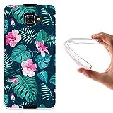 WoowCase Alcatel Idol 4S Hülle, Handyhülle Silikon für [ Alcatel Idol 4S ] Tropische Blumen 2 Handytasche Handy Cover Case Schutzhülle Flexible TPU - Transparent