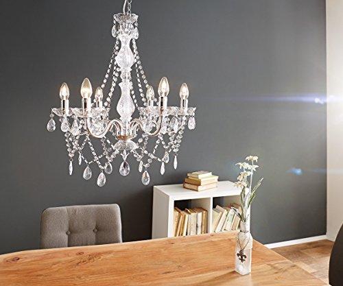 Hängeleuchte Gypsy Starlight Transparent 55x70 cm 6-armig Kronleuchter