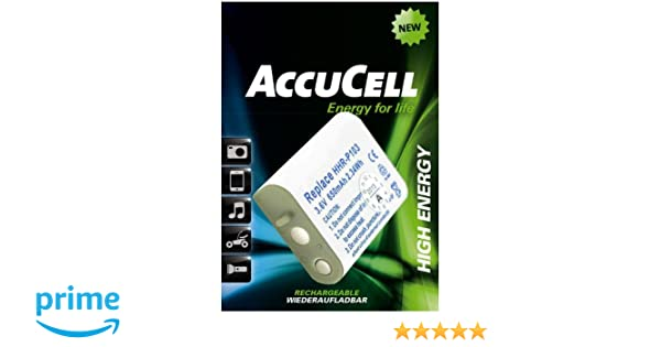 AccuCell GP T357 Batteria per Panasonic HHR-P103 NT70AAAH X 3