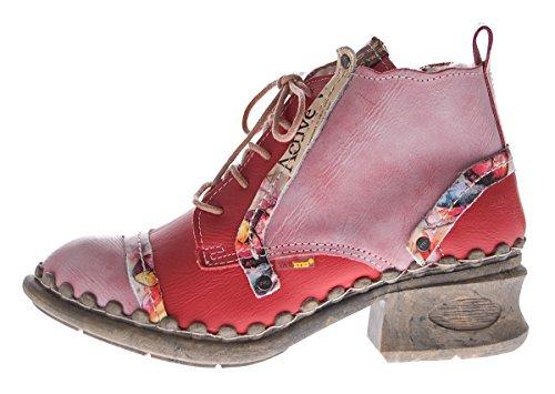 TMA , Chaussures à lacets et coupe classique femme Rouge - Rouge