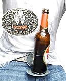 Bull44 Gürtelschnalle mit Bierhalter für 0,5 Liter Flaschen - Geschenk für Männer