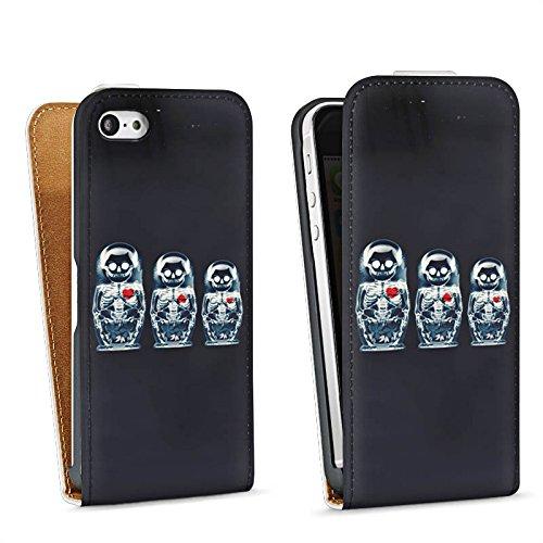 Apple iPhone 6 Housse Étui Silicone Coque Protection Os Crâne Tête de mort Sac Downflip blanc