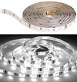 Luminea Zubehör zu LED-Stripe-Sets: LED-Streifen LAK-515, 5 m, 1.300 Lumen, tageslichtweiß, dimmbar, IP44 (LED Lichtbänder)