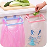 #2: Mosquick Plastic Garbage Bag Holder, Dustbin, Towel Rack For Kitchen, Bathroom ,Office, Schools, Clinic- Mixed Colour (1 Pc)