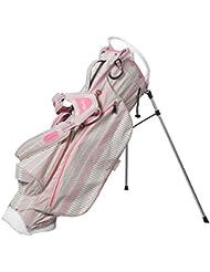 Oull Python Super léger Sac de golf avec support–Gris chaud/blanc/rose–Py6sst-206