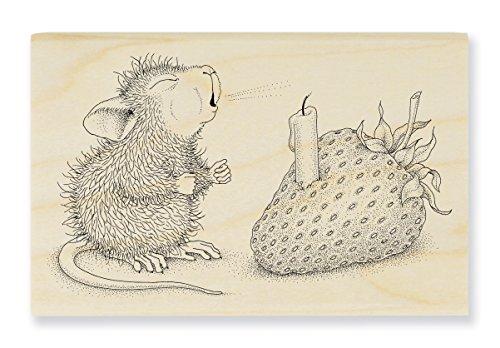 Unbekannt Stampendous hmm18Haus Maus Holz Stempel, Erdbeere Wish -