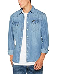 Wrangler Western Denim Shirt, Jean Chemise Homme