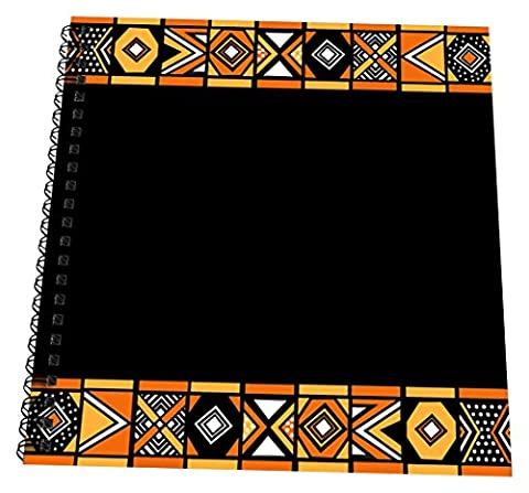 3dRose db_76554_2 Traditional African Pattern-Art of Africa Inspired by Zulu Beadwork Geometric designs-Ethnic-Memory Book, 12 by