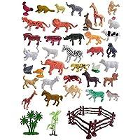 HUMANITY Animal Toys Mini World Animal Set (40 Pcs Set) with Box   Wildlife Model Children Puzzle Early Education Gift…