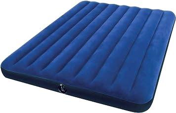 Intex Luftbett Classic Downy Blue Queen, Blau, 152 x 203 x 22 cm