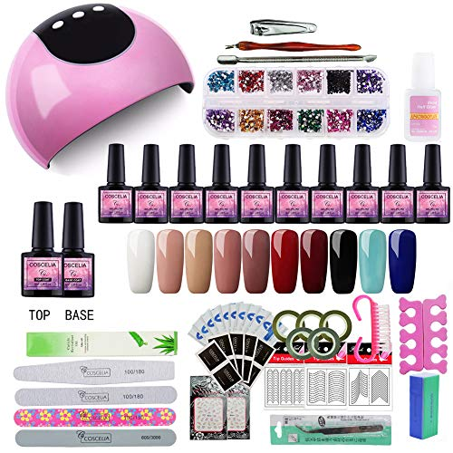Saint-Acior 24W UV/LED Lámpara Secador Uñas Kit