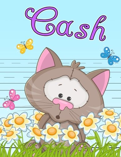 Cash: Personalized Book with Child's Name, Primary Writing Tablet for Kids, 65 Sheets of Practice Paper, 1