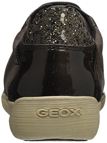 Geox D Myria A, Scarpe da Ginnastica Basse Donna Marrone (Chestnut)