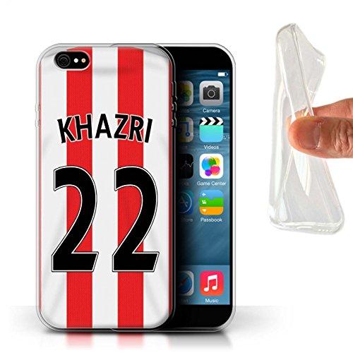 Offiziell Sunderland AFC Hülle / Gel TPU Case für Apple iPhone 6S+/Plus / Khazri Muster / SAFC Trikot Home 15/16 Kollektion Khazri