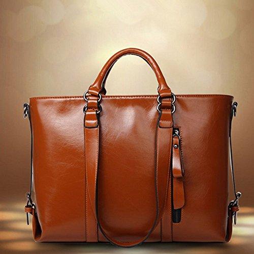 Eysee , Damen Clutch Braun orange 36cm*26cm*15cm braun