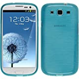 PhoneNatic Custodia Case per Samsung Galaxy S3 Neo Custodia Silicone Brushed Blu Cover Galaxy S3 Neo Custodia + 2 Pellicole