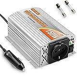 potek 150W Invertitore Inverter dc 12V a V AC 230V Inverter alluminio gomma; spina accendisigari da Auto e 2fusibili di ricambio