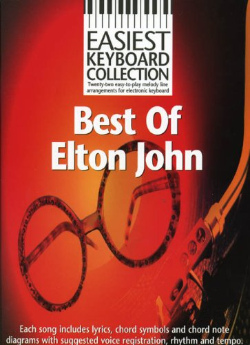 Easiest Keyboard Collection Best of Elton John Lyrics Chords Books