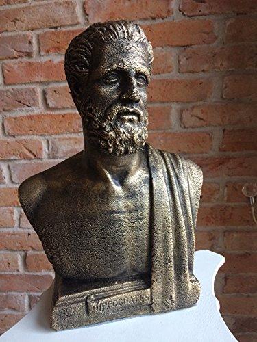 Karo HIPPOKRATES Arzt DOKTOR BÜSTE Statue SKULPTUR DEKO TISCHDEKOARTIKEL Medizin Wissenschaft (Hippokrates-statue)