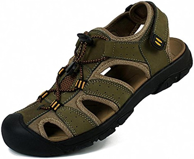 Sommer 2017 Sport der Männer Sandalen Männer Leder erste Schicht aus Leder Sandalen und Pantoffeln faule Männer