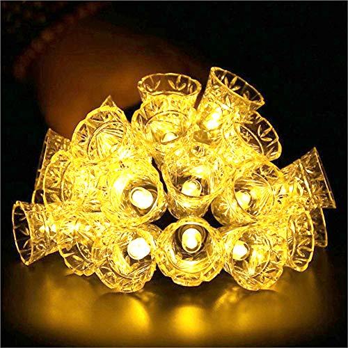 ZXYWW Bell Weihnachtsbeleuchtung Dekoration Batteriebetrieben 20Ft 40 LED Lampe String Leuchten Dekorative, Gärten, Rasen, Terrasse, Weihnachtsbäume, Hochzeiten, Partys,Warmwhite