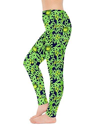 CowCow - Legging - Femme Vert vert mer vert fluorescent