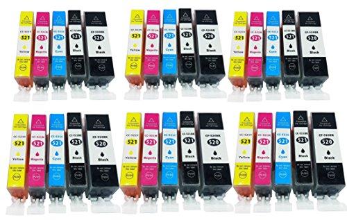 Azprint 30er Set Kompatibel Canon PGI-520 PGI520 PGI 521 XL + CLI-521 CLI521 CLI 521 XL Druckerpatronen für Canon Pixma IP3600 IP4600 IP4700 MP540 MP550 MP560 MP620 MP630 MP640 MX860 MX870| 6 Schwarz, 6 Photo schwarz, 6 Blau, 6 Rot, 6 Gelb