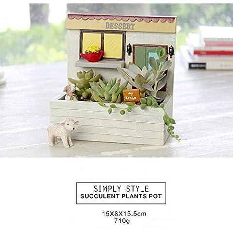 Aution House - Mini Macetas Monas ,Bonitas para Decorar el Escritorio , Antepecho , Balcón - Un Regalo Genial a Niños , Amigos , Parientes etc