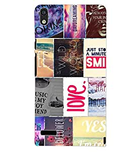 PrintDhaba QUOTE D-6841 Back Case Cover for HUAWEI ASCEND P6 (Multi-Coloured)