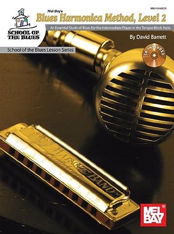 Barrett David Blues Harmonica Method Level 2 Harmonica Book/Cd
