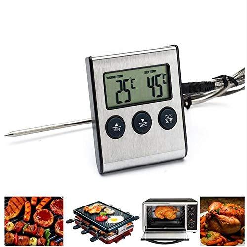 LOVE-HOME Termómetro para Carnes, termómetro de Alimentos de Lectura instantánea Termómetro de cocción...