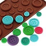 JER Button Back Kekes Form Silikon fürm Pralinenfürm Alltagsgebrauchsgegenstände