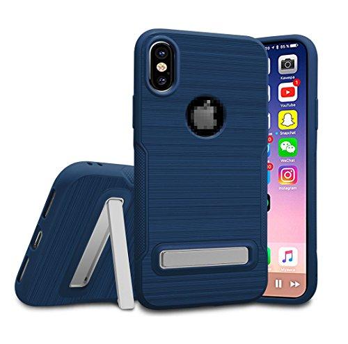 Kadcope Copertura del telefono cellulare per iPhone X, SoftFlex Custodia protettiva sottile per la copertura Apple iPhone X / iPhone X Blue-B