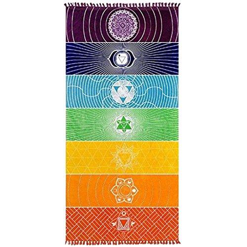 MagiDeal Tapis De Yoga Multicoloré Linge De Maison Sports Accessoire Vêtement