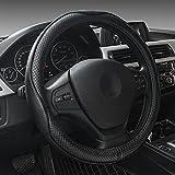 HCMAX Prima Vehículo Cubierta del Volante Coche Protector del Volante Universal Diámetro 38cm (15 ') Piel Genuina