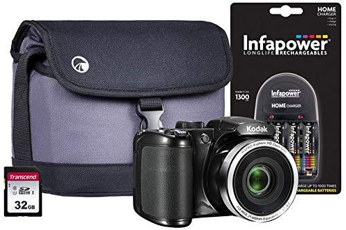 Kodak PIXPRO AZ252 Bridge-Kamera inkl. 4 AA-Batterien, 32 GB SD, Tasche und Ladegerät -