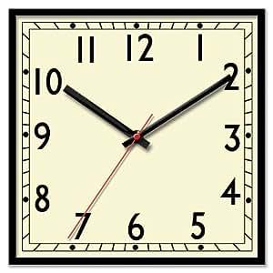 Classic Retro Large Square Bold Quartz Wall Clock Amazon
