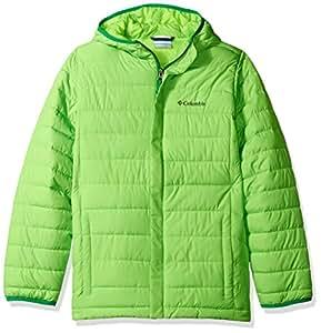 Columbia Little Boys' Toddler Powder Lite Puffer Jacket, Green Mamba,4T