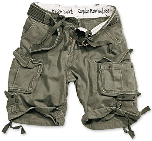 Surplus Division Herren Cargo Shorts, off-white, XXL