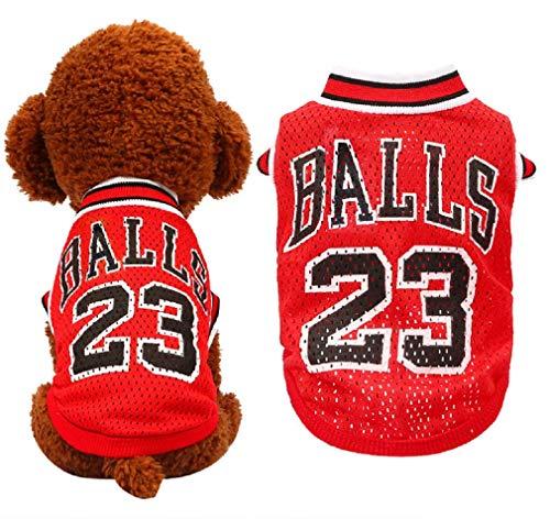 BestYuan World Cup Athletic Mesh Dog Jersey Fußball T-Shirt Hunde Kostüm Outdoor Sportswear Sommer Atmungsaktiv (Fußball Kostüm Für Hunde)