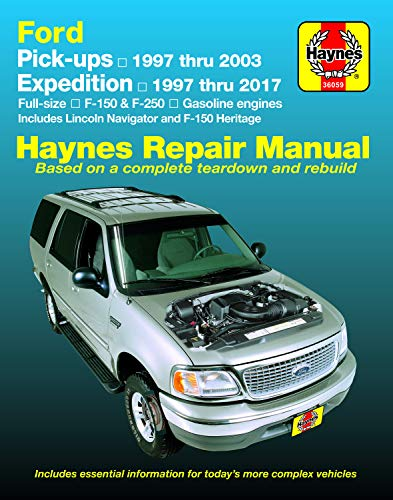 Ford pick-ups, Expedition & Lincoln Navigator covering 2WD & 4WD petrol F-150 (1997-2003), F-150 Heritage (2004), F-250 (1997-1999 (Hayne's Automotive Repair Manual) (Ford F 150 2003)