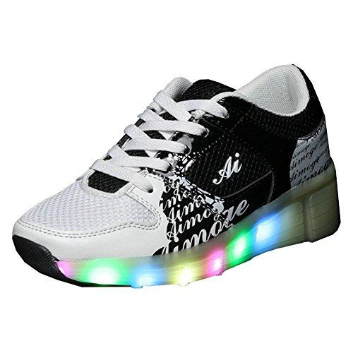 iBaste-Zapatos-de-caminar-rpido-cordones-lmpara-LED-ruedas-automtico-para-chicos-chicas
