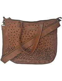Taschendieb - Bolso al hombro de Piel Lisa para mujer marrón coñac