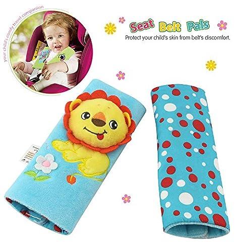 TOLOLO Kids Infant Cartoon Animal Soft Safety Belt Cover Seat Strap Cover Shoulder Pad Cushion (Lion)