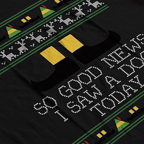 Good News Elf Quote Christmas Knit Women's Vest Black