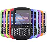 iTALKonline BlackBerry 9790 Bold Bellagio SoftSkin 10 PACK PURPLE RED LIGHT BLUE GREEN DARK BLUE GREEN YELLOW BLACK WHITE ORANGE PINK Silicone Protective Armour Case Skin Cover Shell with 10 LCD Screen Protectors