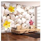 Finloveg Moderno Simple Flores De Piedra Blanca Papel Tapiz De Fotos Salón Tv Dormitorio Estudio Telón De Fondo Revestimiento De Pared 3D Mural De Pared Papeles De Pared-250X175Cm